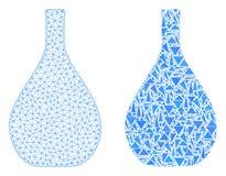 2D ícone poligonal de Mesh Glass Jug e do mosaico ilustração stock