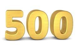 3d золото 500 бесплатная иллюстрация