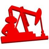 3D óleo Rig Icon Imagens de Stock