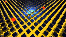 3D übertragen abstrakten Hintergrund Geometrieformen, das auf und ab geht Stockfoto