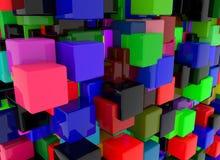3D übertragen abstrakten Hintergrund Geometrieformen, das auf und ab geht lizenzfreies stockfoto