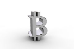 3D übertragen bitcoin Währungszeichen lizenzfreies stockbild