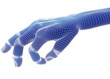 3d übertragen, blaue Hand Lizenzfreie Stockbilder
