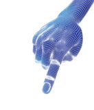 3d übertragen, blaue Hand Stockbilder