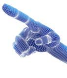 3d übertragen, blaue Hand Stockfotos