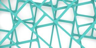 3d übertragen, 3d Illustration, abstrakter Bauhintergrund, Schachbrettmuster auf einem blauen Grün Schnitt von Linien Lizenzfreies Stockfoto