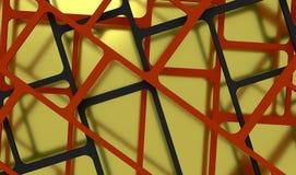 3d übertragen, 3d Illustration, abstrakter Bauhintergrund, Schachbrettmuster Schnitt von Linien Lizenzfreie Stockfotografie