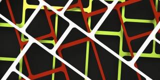 3d übertragen, 3d Illustration, abstrakter Bauhintergrund, Schachbrettmuster Schnitt von Linien Stockbilder