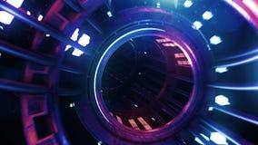 3d übertragen digitale Tunnelneonzusammenfassung VJ lizenzfreie stockfotografie