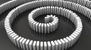 3d übertragen Domino-Effekt lizenzfreie stockfotografie