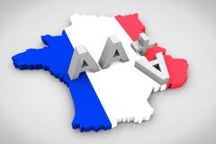 3D übertragen Finanzkreditanmerkung Text AAA stockfotos