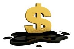 3d übertragen, fixiertes Dollarzeichen und Öl Stockbild