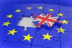 3d übertragen - Laubsäge - Puzzlespiel - brexit Lizenzfreie Stockfotos