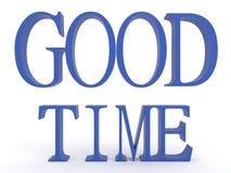 3d übertragen lokalisierte gute Zeit der blauen Aufschrift lizenzfreie abbildung