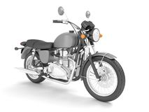 3d übertragen lokalisiertes graues graues Motorrad stock abbildung