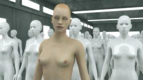 3d übertragen Menschliche Humanoidzahl lizenzfreie abbildung