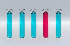 3D übertragen Reagenzgläser lizenzfreies stockbild