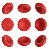 3d übertragen rote Blutkörperchen, 9 Grad auf Weiß zu drehen lizenzfreie abbildung