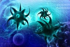 3d übertragen Virus Lizenzfreie Stockfotos