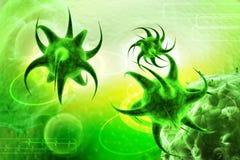 3d übertragen Virus Lizenzfreie Stockfotografie