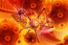 3d übertragen Virus Lizenzfreies Stockbild