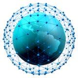 3d übertragen vom abstrakten Netz Stockfotos