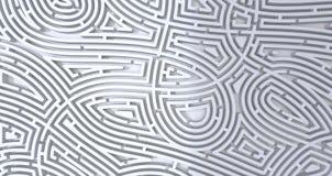 3d übertragen vom abstrakten weißen Hintergrund des schwierigen weißen Labyrinths vektor abbildung