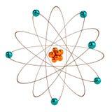 3d übertragen vom Atom Stockbilder