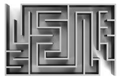 3d übertragen vom Labyrinth Lizenzfreie Stockbilder