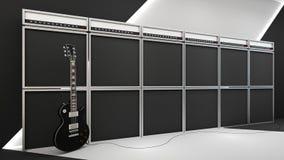 3d übertragen vom Rock-and-Roll lizenzfreie abbildung