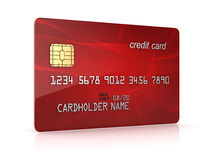 3d übertragen vom roten Kreditwarenkorb Lizenzfreies Stockfoto
