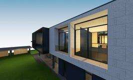 3D übertragen vom tropischen Hausraum mit Beschneidungspfad Stockfoto