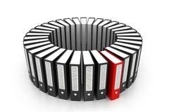 3d übertragen von den Bürodokumenten Lizenzfreies Stockfoto