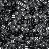 Schwarzer Würfelhintergrund stock abbildung