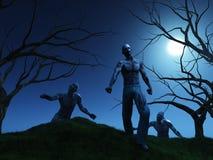 3D übertragen von den Zombies Stockbild