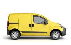 3d übertragen von der gelben Lieferung Van Icon Stockbild