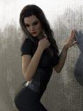 3D übertragen von der jungen Frau Stock Abbildung