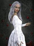 3D übertragen von der jungen Frau auf Fantasie backround Stock Abbildung