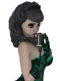 3D übertragen von der Sängerin Vektor Abbildung