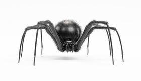 3D übertragen von der schwarze Witwen-Spinne Lizenzfreies Stockfoto