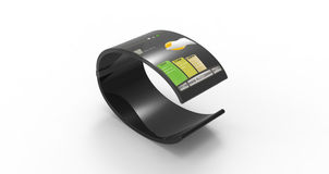 Schwarzes mobiles Armband Stockfoto