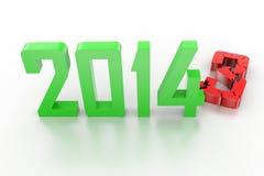 3d übertragen von neuem Jahr 2014 vektor abbildung