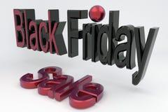 3D übertragen Zeichen Black Friday und den Verkauf Fahne für Geschäft