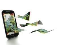 3D übertragenes israelisches Schekelgeld gekippt und auf weißem Hintergrund lokalisiert vektor abbildung