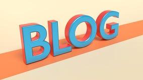 3d übertrug Blogtext Lizenzfreie Stockfotografie
