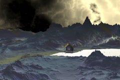 3d übertrug Fantasieausländerplaneten Lizenzfreies Stockfoto