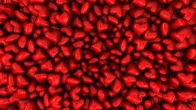 3D übertrug Hintergrund wenig Süßigkeitsherzen, für Valentinsgruß ` s Tag Lizenzfreie Stockbilder