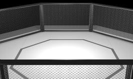 3D übertrug Illustration einer Muttahida Majlis-e-Amal kämpfenden Käfigarena stockfoto