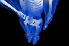 3d übertrug Illustration - Rückenschmerzen Stockfotografie