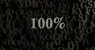 100% - 3D übertrug metallische gesetzte Schlagzeilenillustration Lizenzfreie Stockfotos